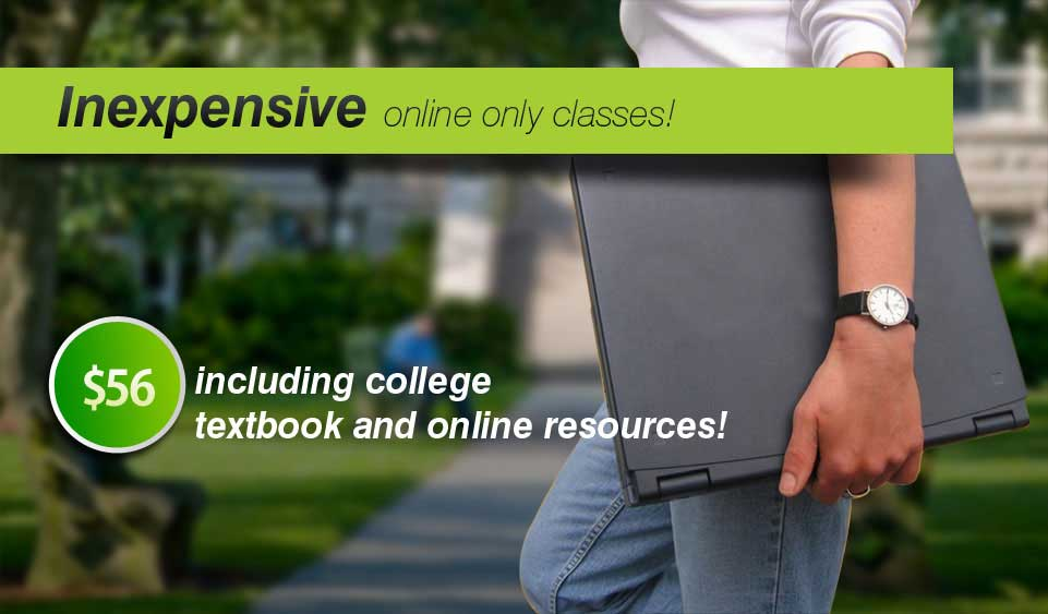 Inexpensive online only classes